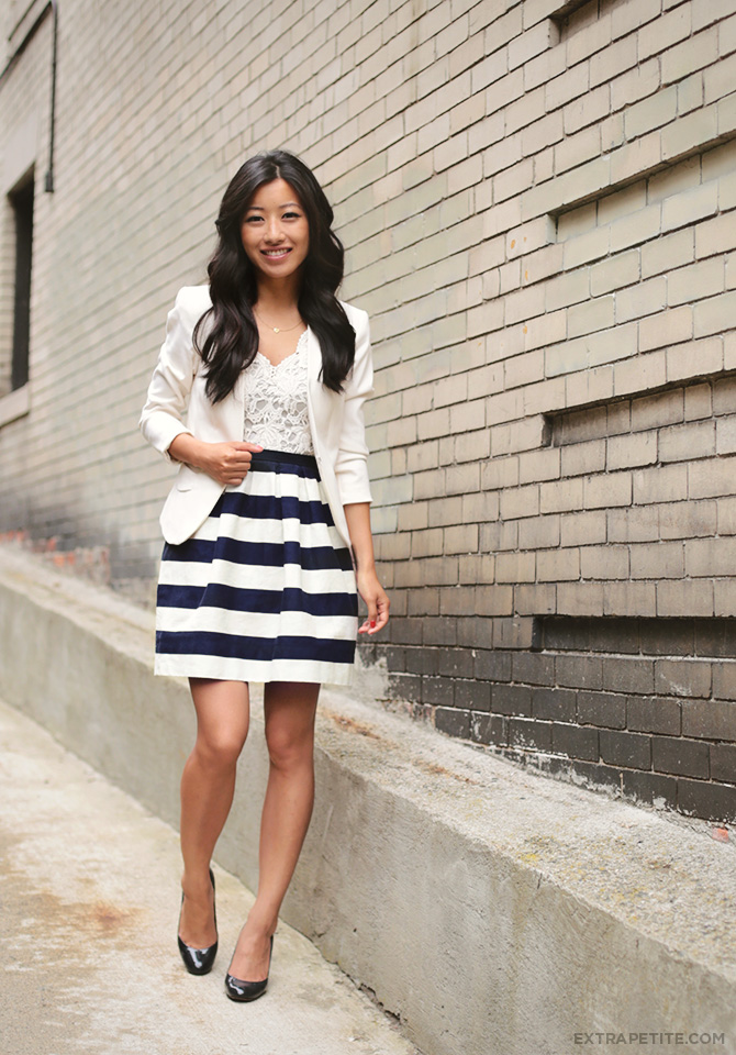 lace crochet and stripes