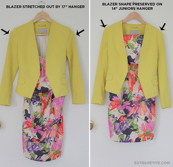 yellow blazer before after