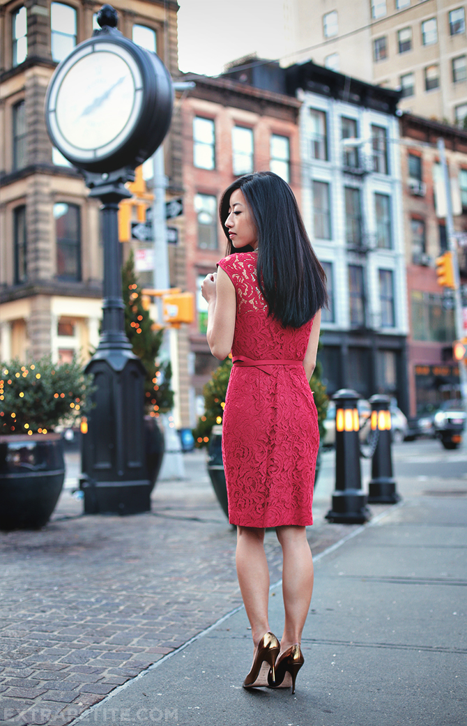 red lace dress3