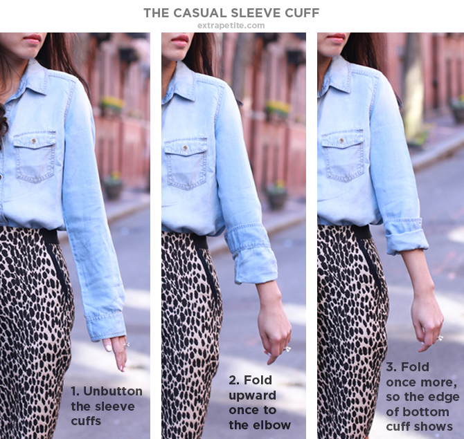 how to roll up cuff shirt sleeves