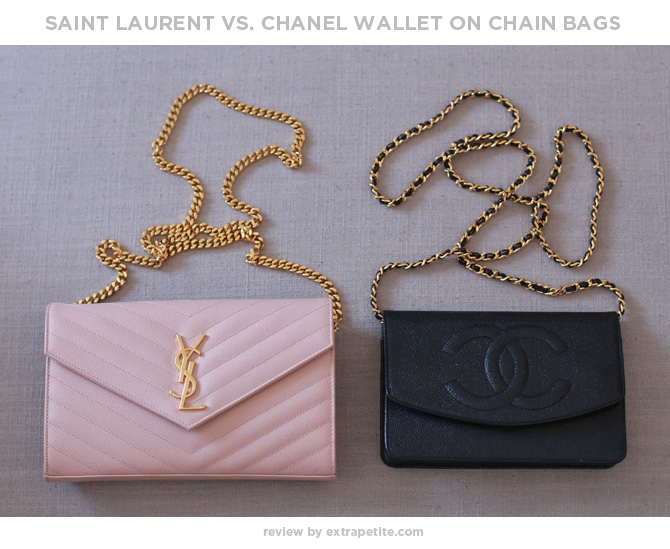 chanel vs ysl saint laurent wallet on chain purse review
