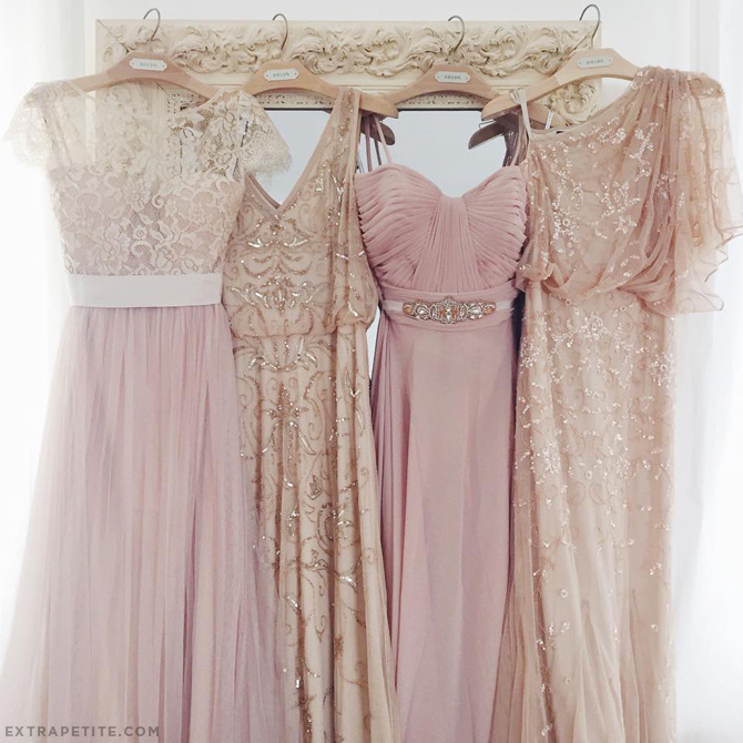 bhldn bridesmaids dresses blush pink