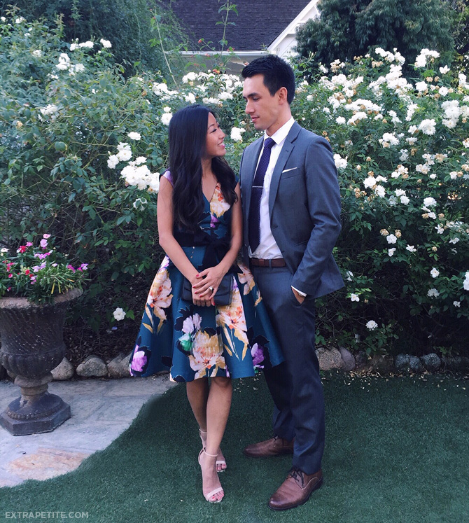 anthropologie floral dress wedding guest outfit