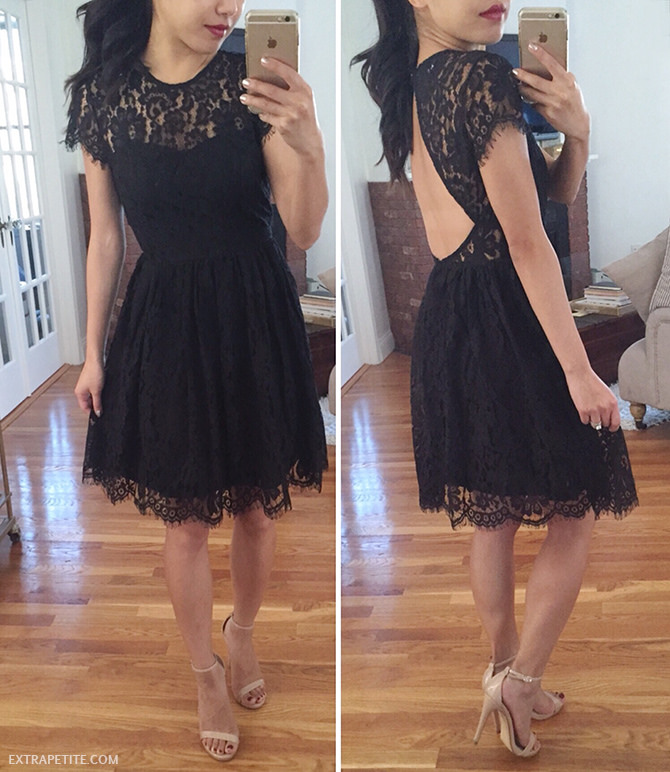 Nordstrom glamorous lace dress review