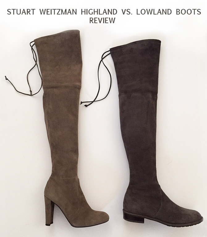stuart weitzman highland lowland boots review comparison