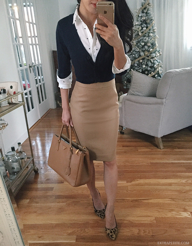 jcrew no 2 pencil skirt business casual work outfit