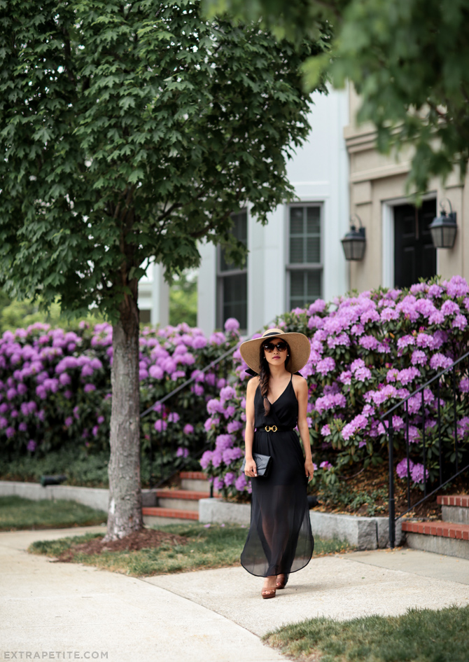 boston summer wedding guest maxi dress outfit