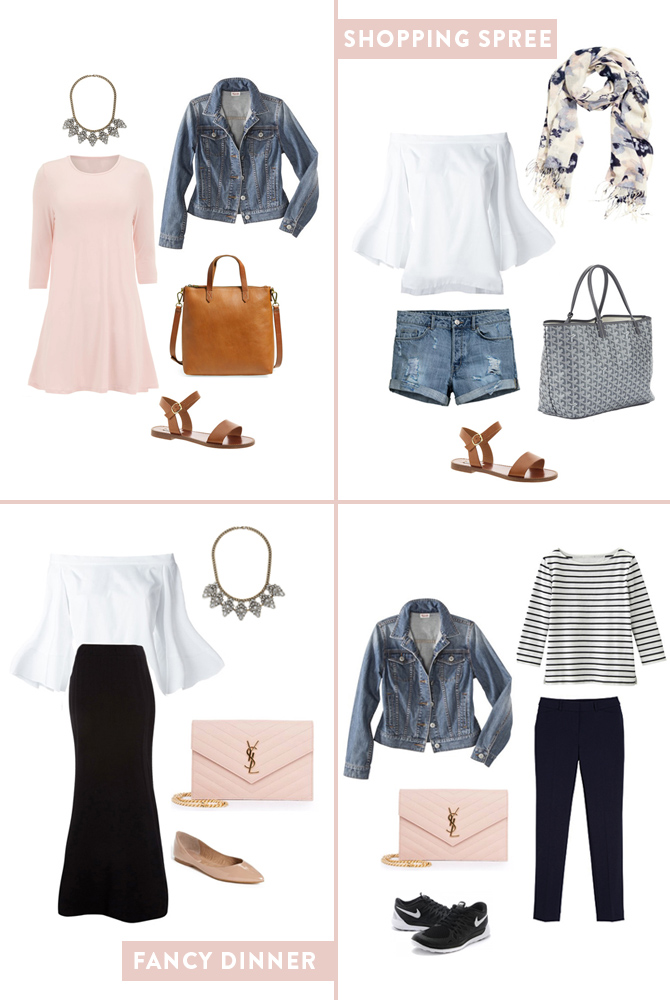How to pack 10 Days of cute outfits in a carry-on bag from Boston travel blogger, Extra Petite.