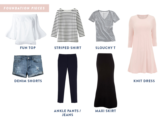 Travel Outfits: Foundation pieces to pack in a carry-on.