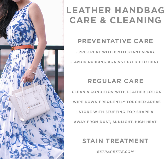 how to care for and keep leather designer bags clean