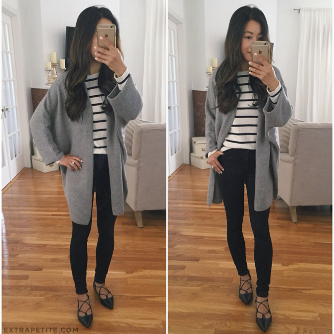 slouchy gray boyfriend cardigan outfit ideas_nordstrom anniversary sale
