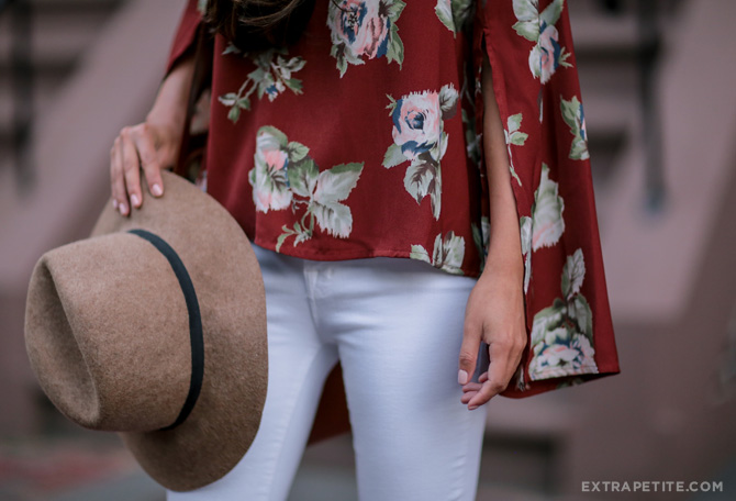 astr floral top fall fashion outfit