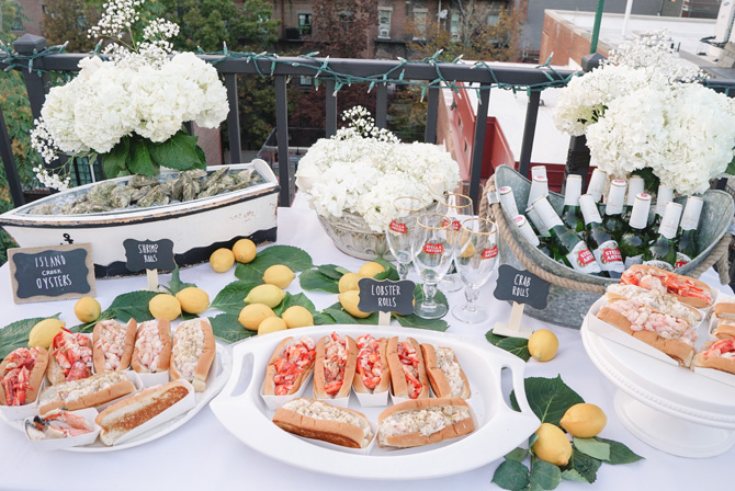 new england seafood party oysters lobster rolls stella artois