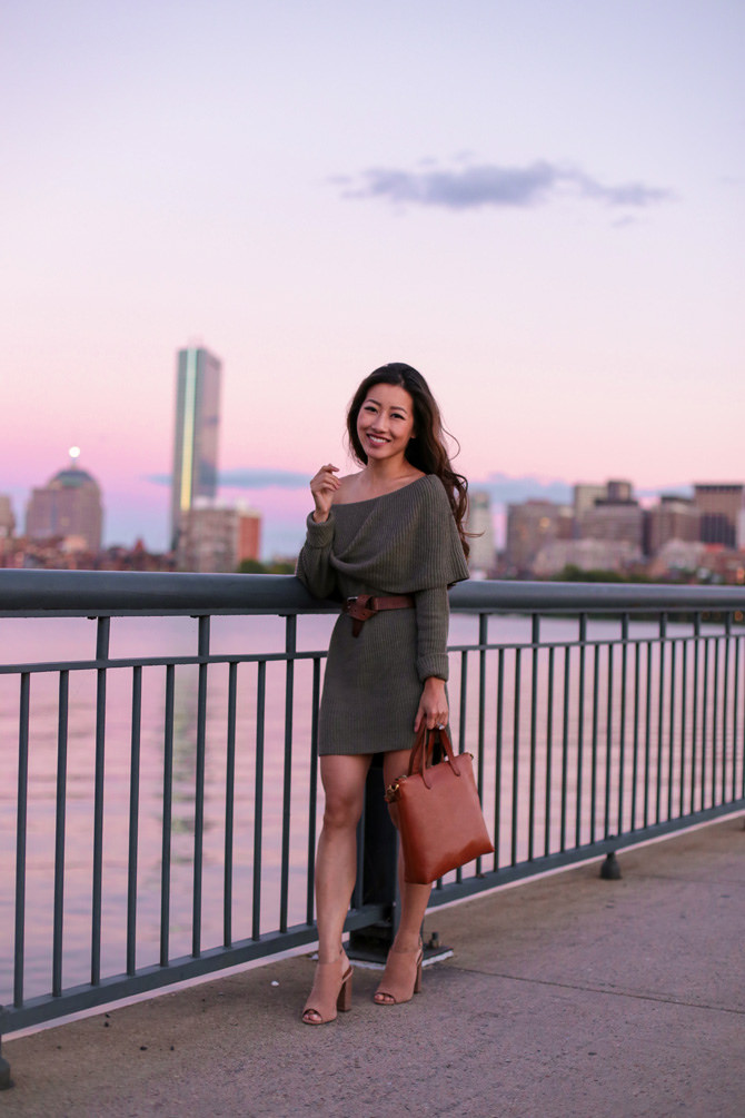 off shoulder sweater dress nordstrom fall outfit_extra petite