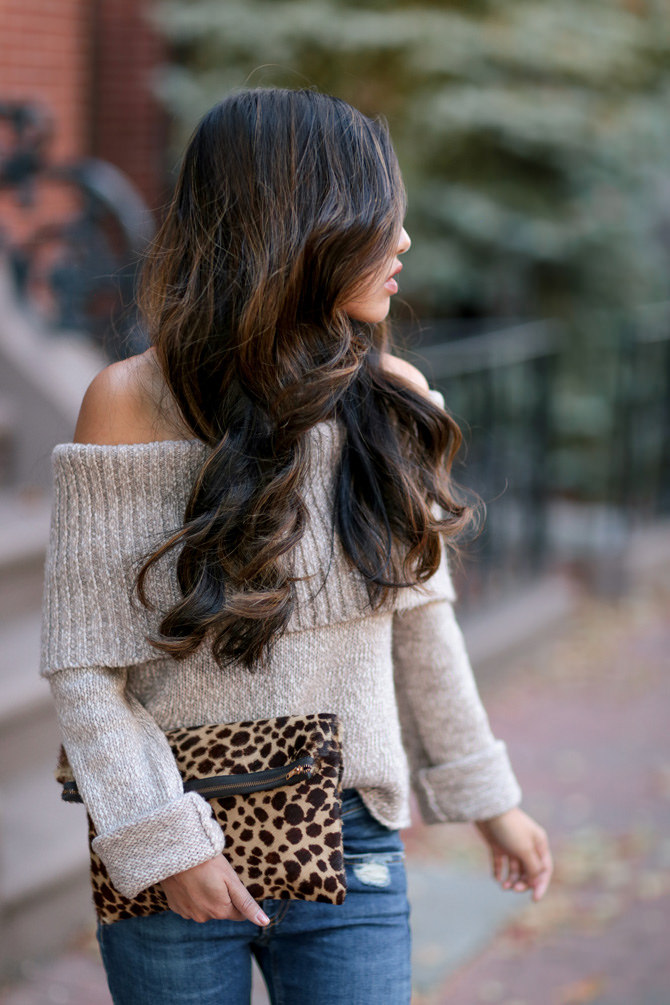 aerie american eagle off shoulder sweater dark balayage