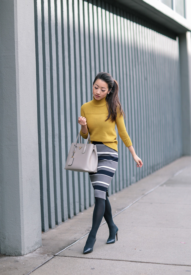 sweater skirt business casual winter work outfit