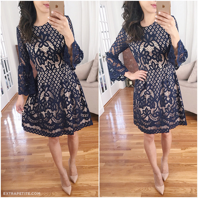 eliza j petites navy lace dress nordstrom