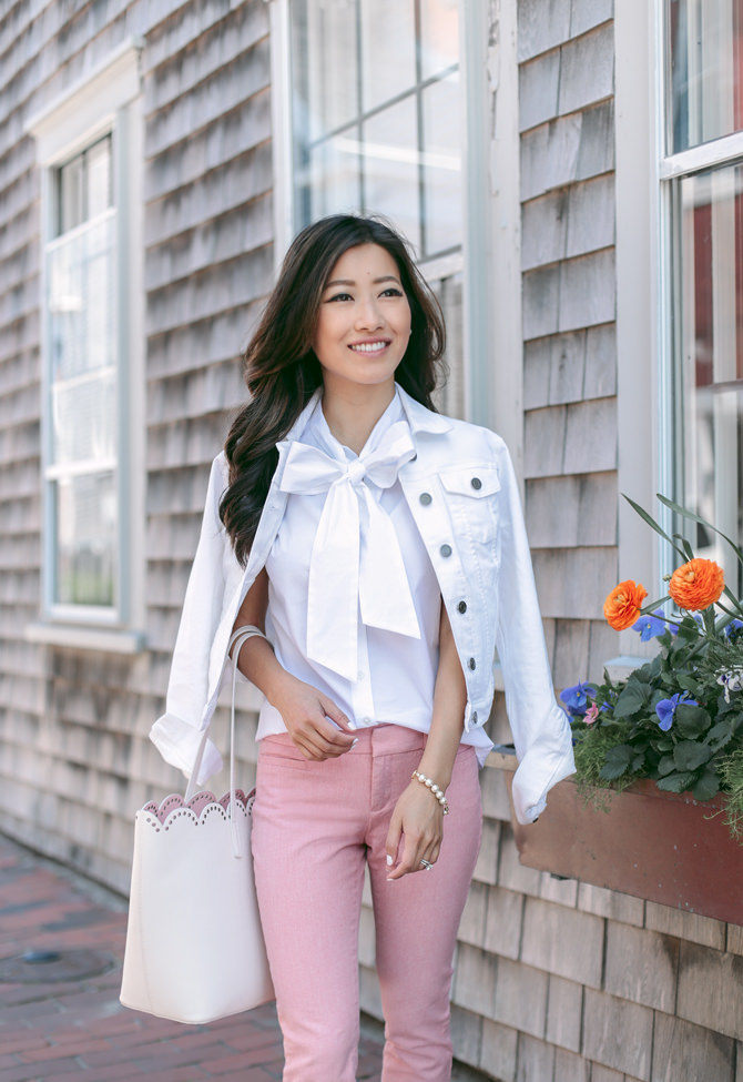 white denim jacket casual style outfit boston fashion blogger