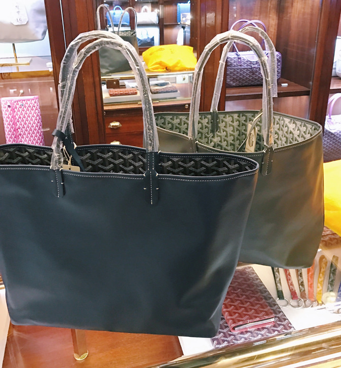 goyard anjou reversible leather tote cheaper at flagship paris store