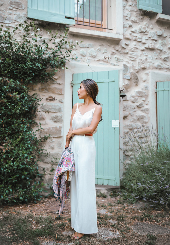 white jumpsuit outfit wide leg pants petite style