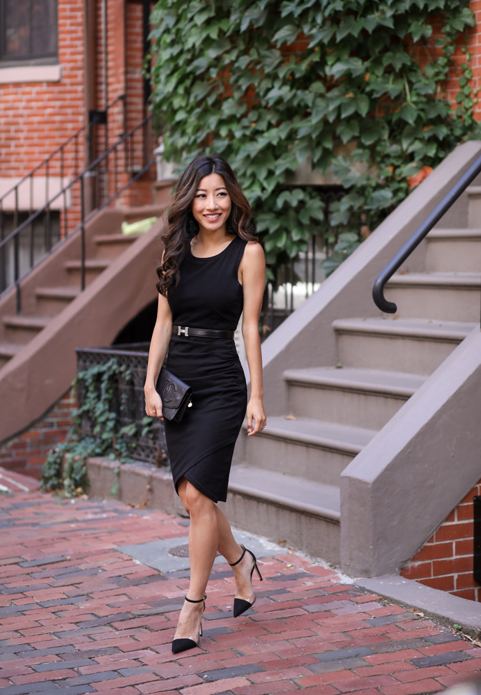 little black dress leith wrap style nordstrom