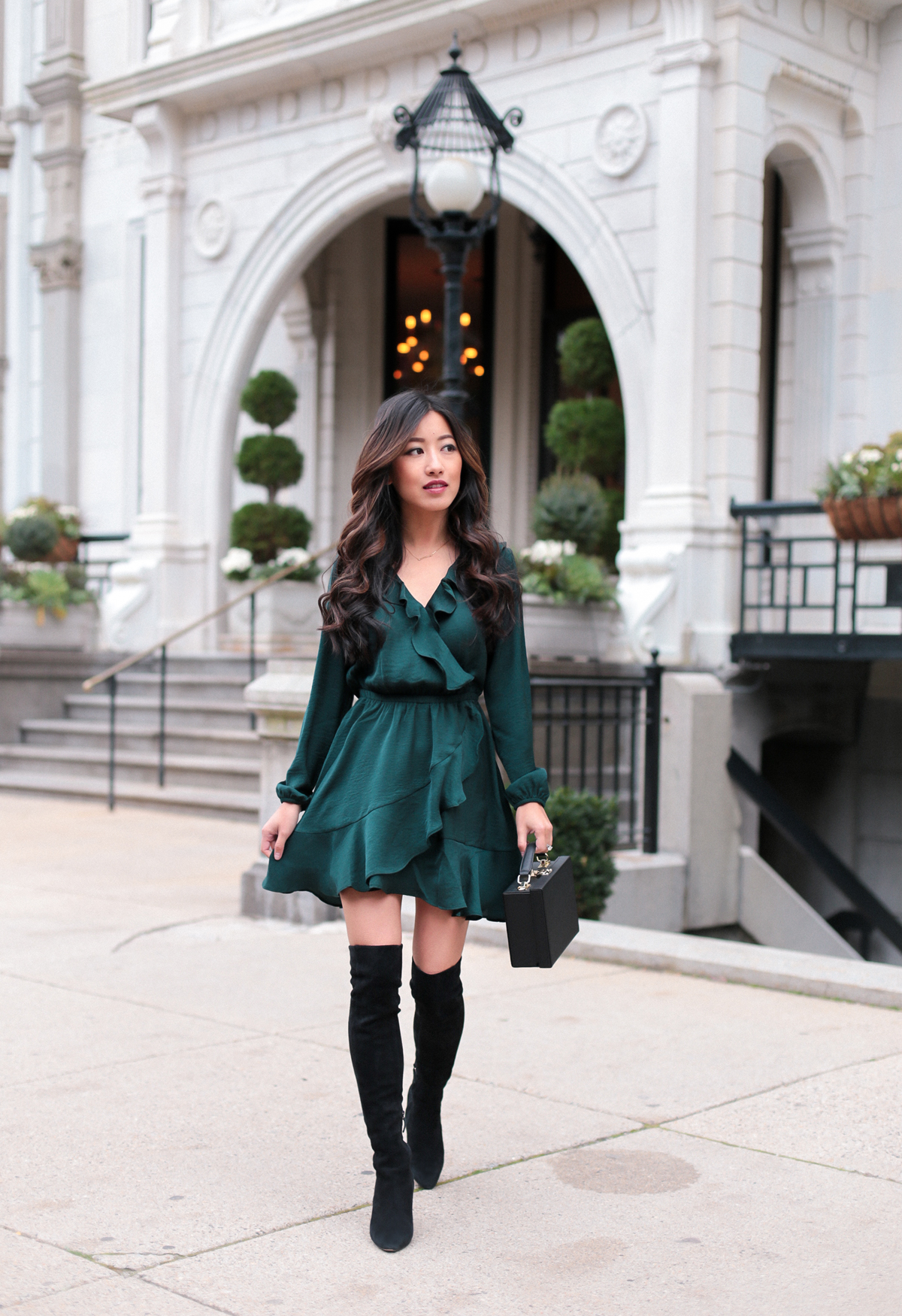 Fall Dresses With Long Boots