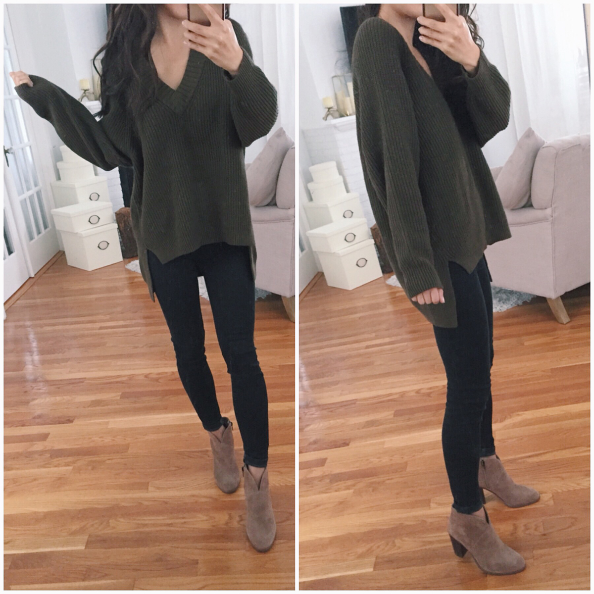 petite tunic sweater vince camuto ankle boots