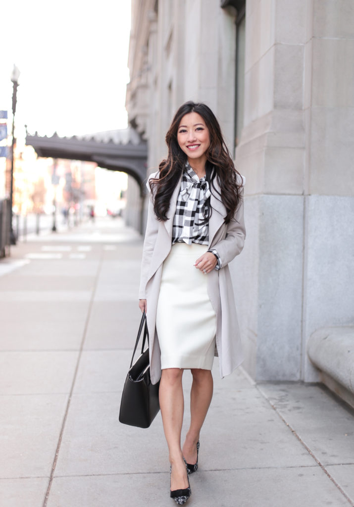 trench coat business casual work outfits for petite women