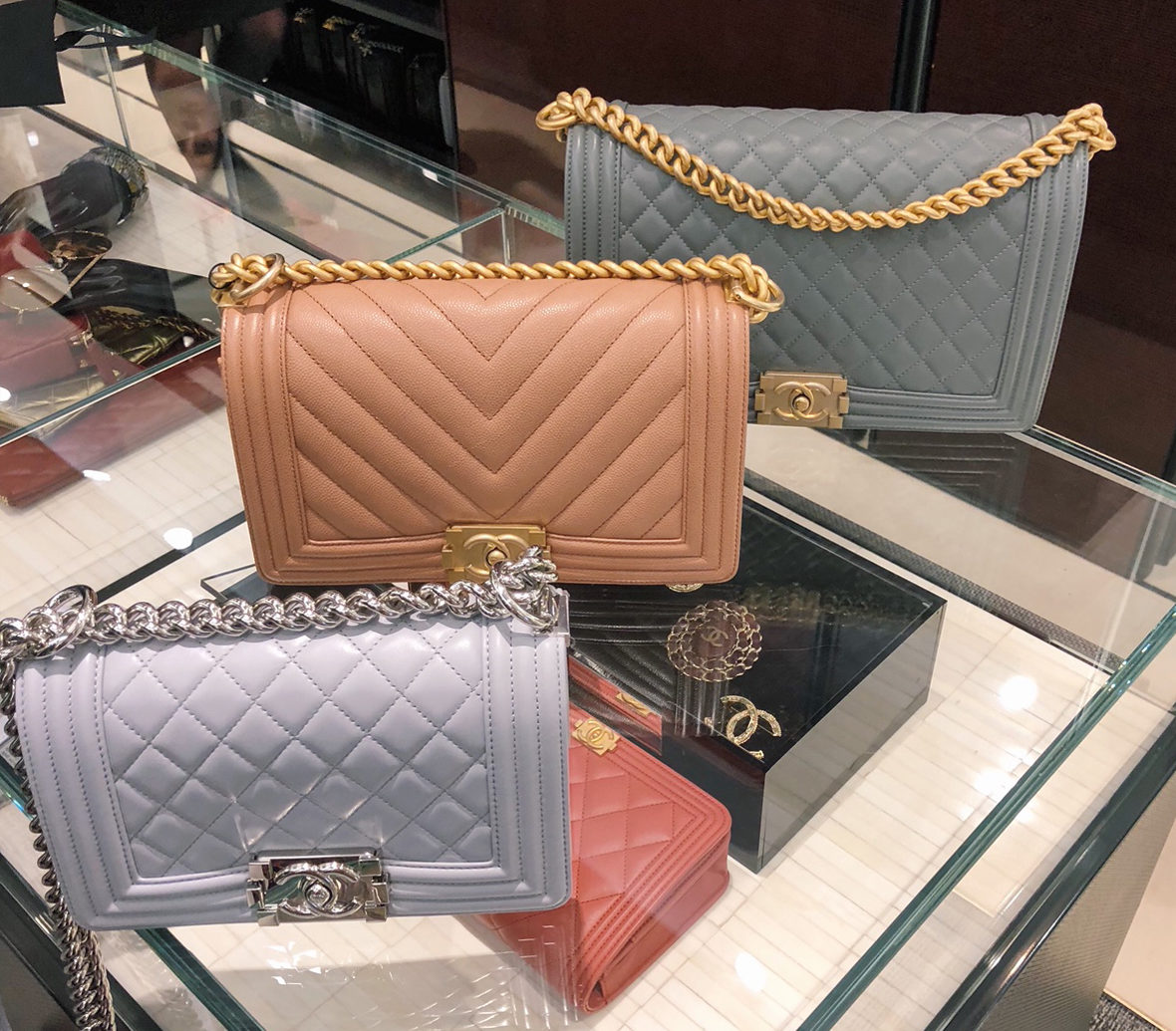 chanel boy bag size comparison cambon paris flagship store