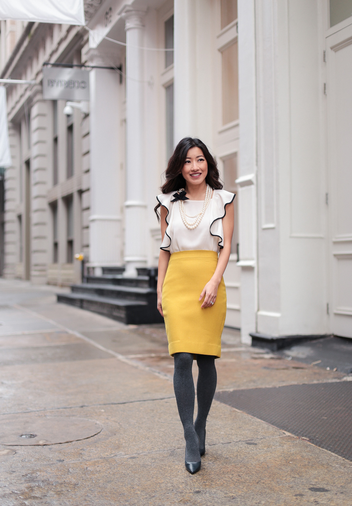 jcrew petite wool pencil skirt for work