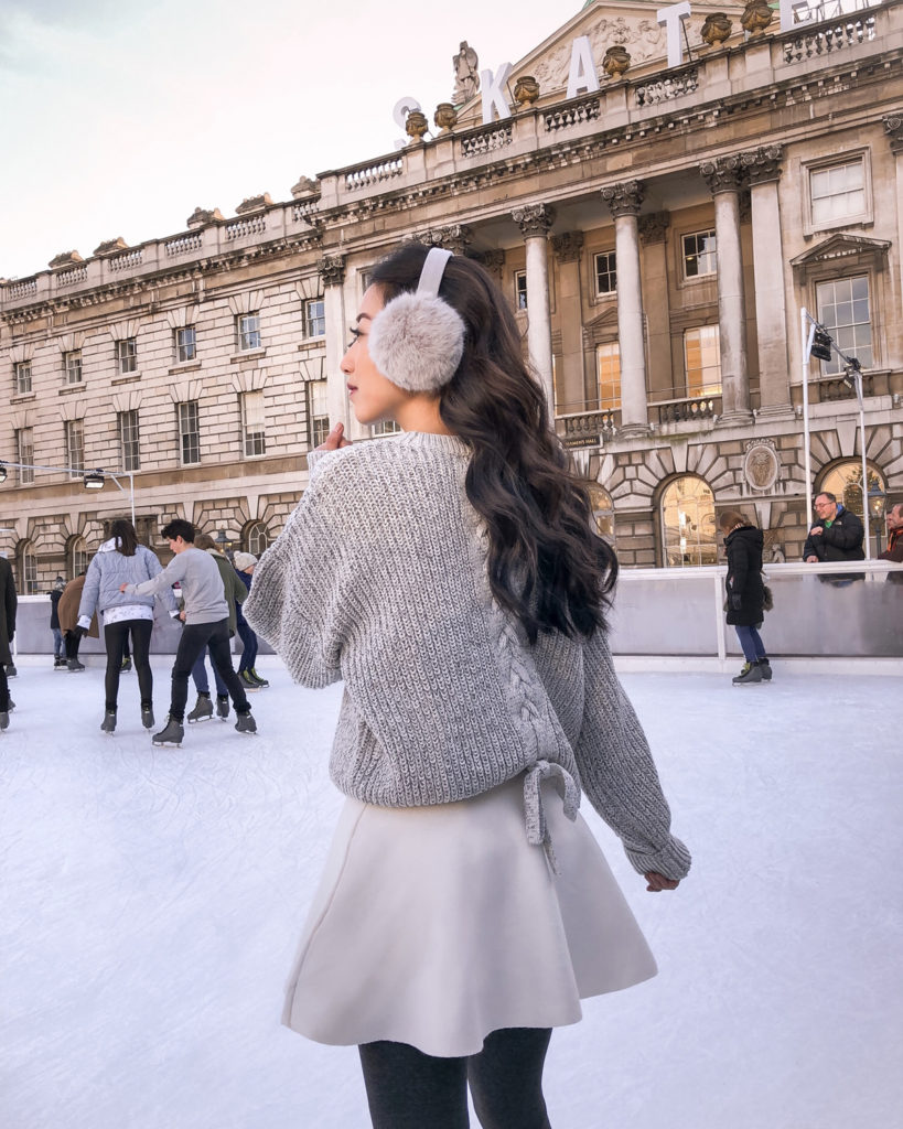 somerset house london ice skating outfit skirt