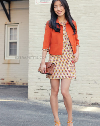 Revived Favorites: Retro Print Shift Dress + Oranges