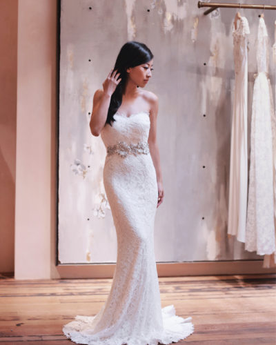 Petite-friendly wedding dress search