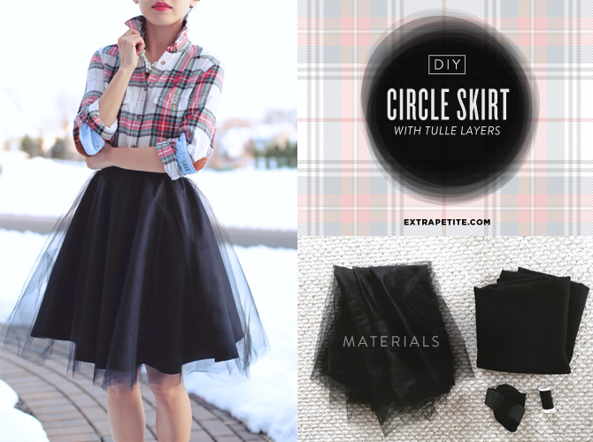 d525de926 Holiday Tutorial: DIY Full Circle Skirt with Tulle Overlay - Extra ...