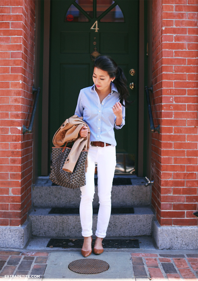 Chubby white jeans