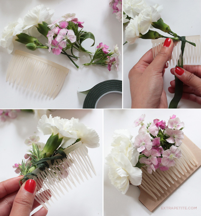 Flower Crown & Comb DIY Tutorial (bridal Shower Activity
