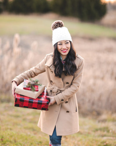 Classic holiday style + Christmas gift wrapping