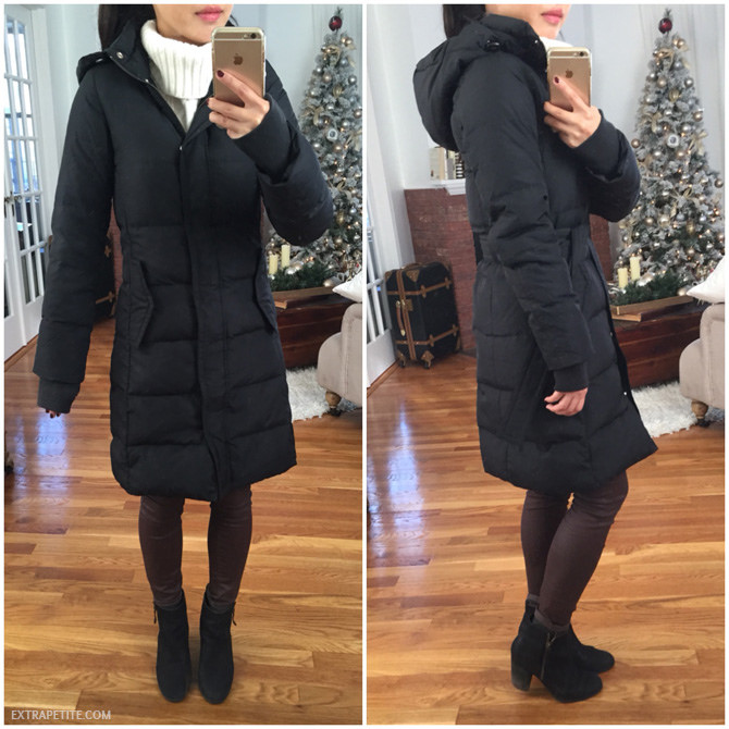 87257ed41 Little red (bow back) riding hood // J.Crew Factory puffer review ...