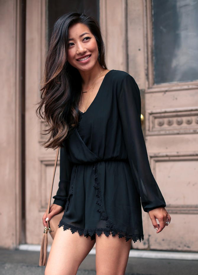 0bd64412dec2ab astr black lace romper nordstrom_extra petite fashion blog