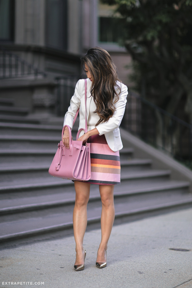 18eb7143675 fall business work outfit idea extra petite boston. This is my first time  toting around the Saint Laurent sac de jour ...
