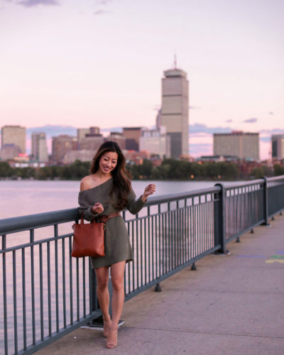 Boston Sunset // Off Shoulder Sweater (Dress) Season
