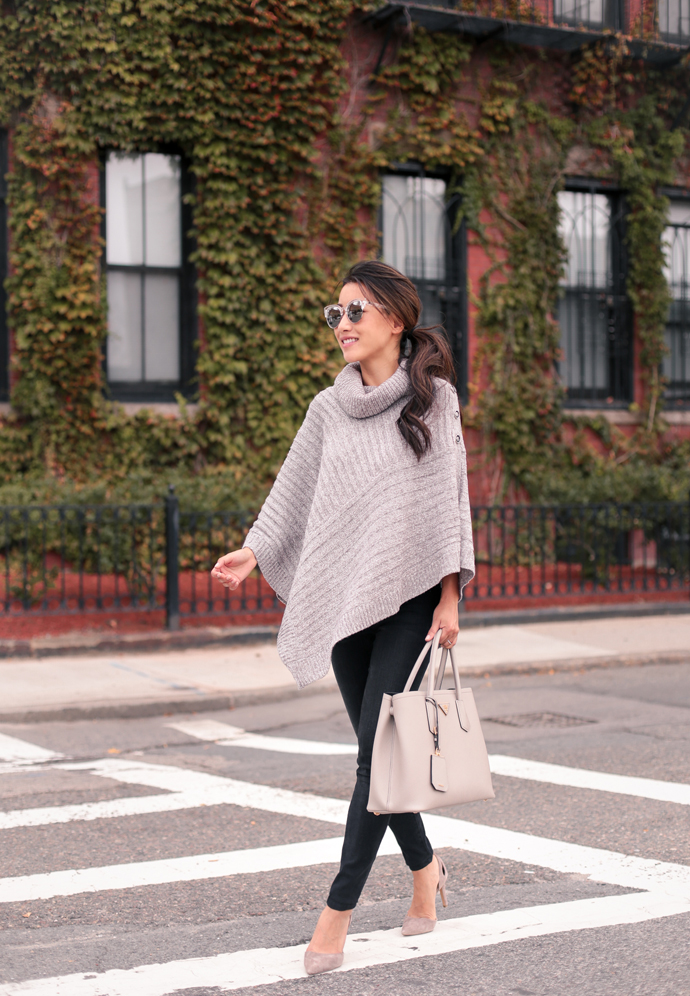 casual fall style outfits poncho cape sweater review