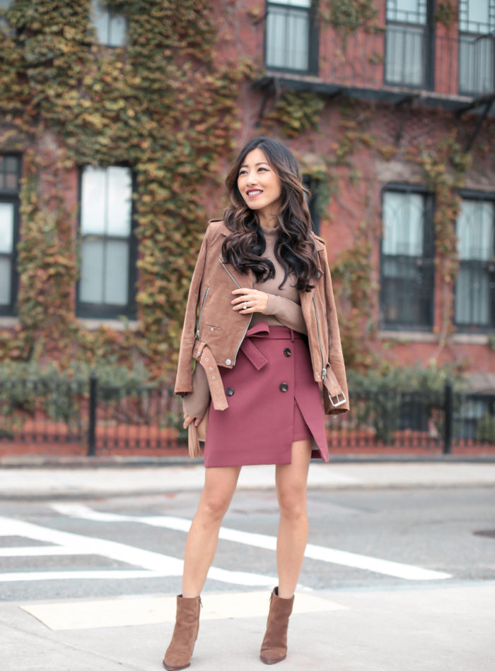 suede moto jacket stylish petite fashion for fall
