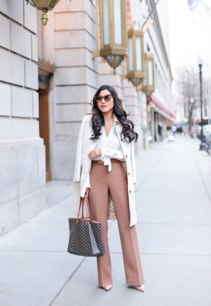 winter work outfit ideas camel pants extra petite. Black Bedroom Furniture Sets. Home Design Ideas