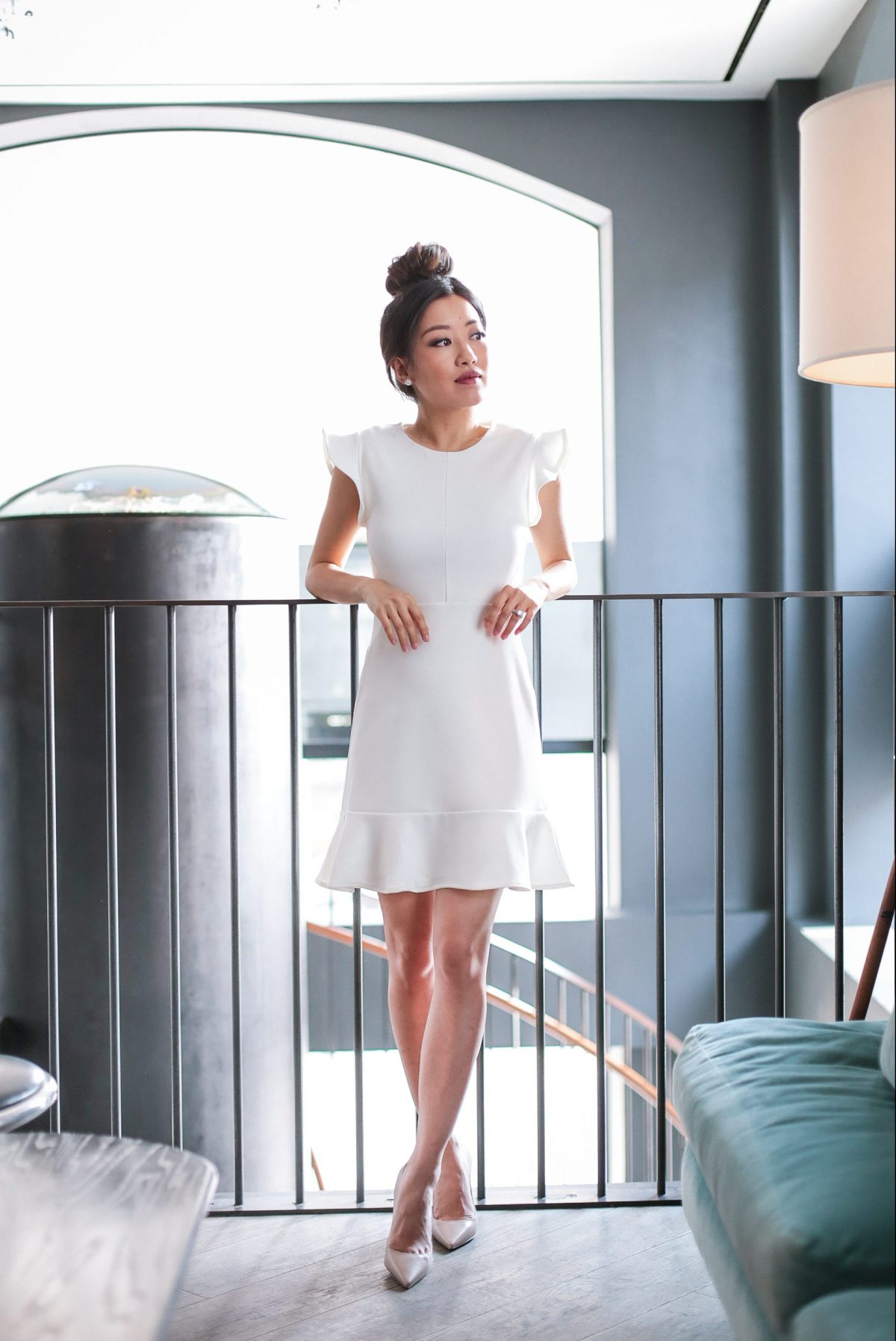 white dress ruffle bachelorette extra petite blog