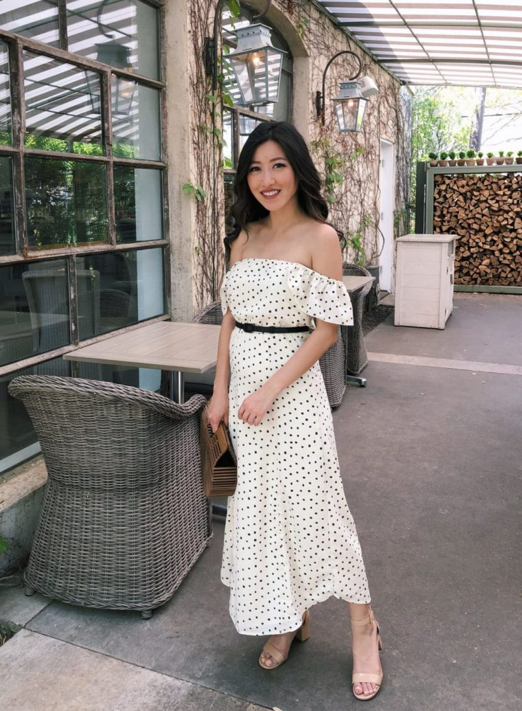 polka dot dress houston outfit petite fashion blogger