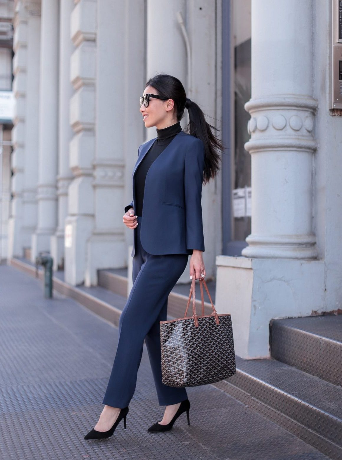 business formal workwear theory suit for petite women