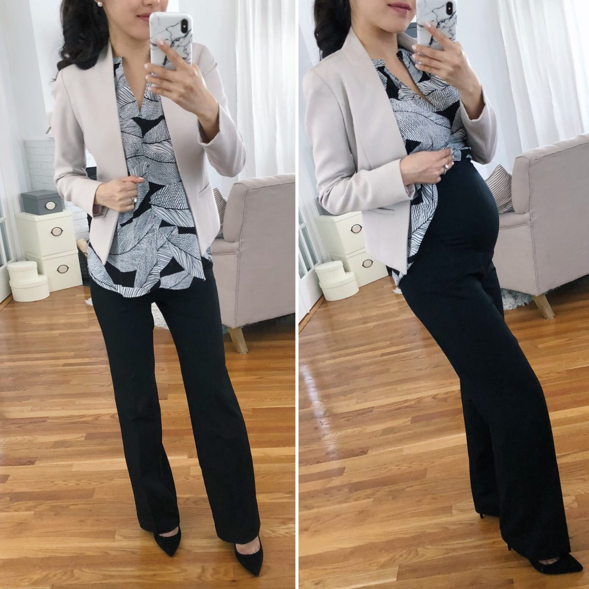 63294e4a8d pregnant work outfits maternity petite business pants