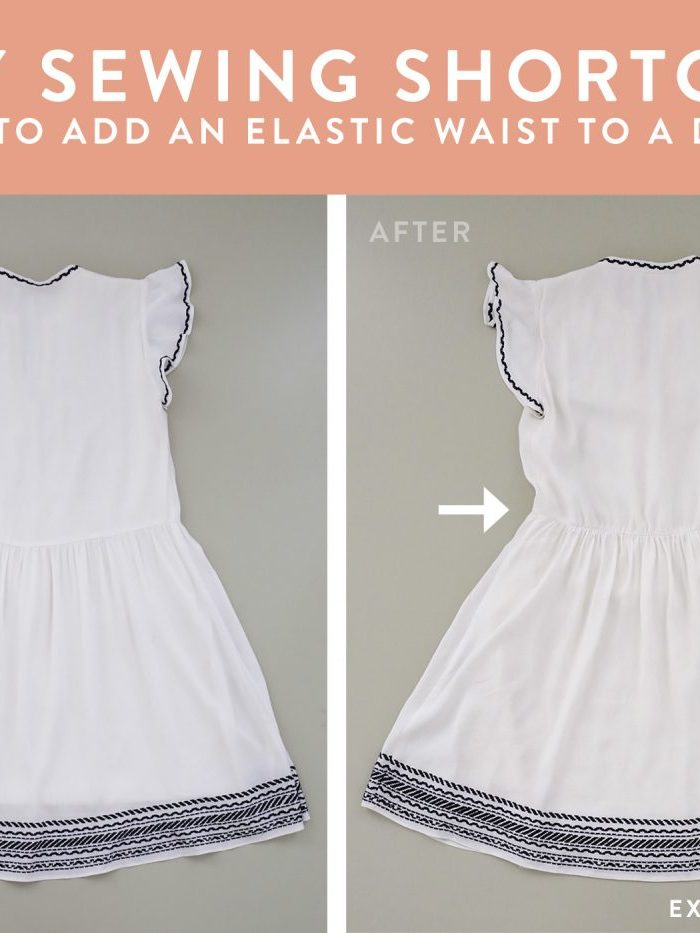 sewing tutorial how to add an elastic waist to dress