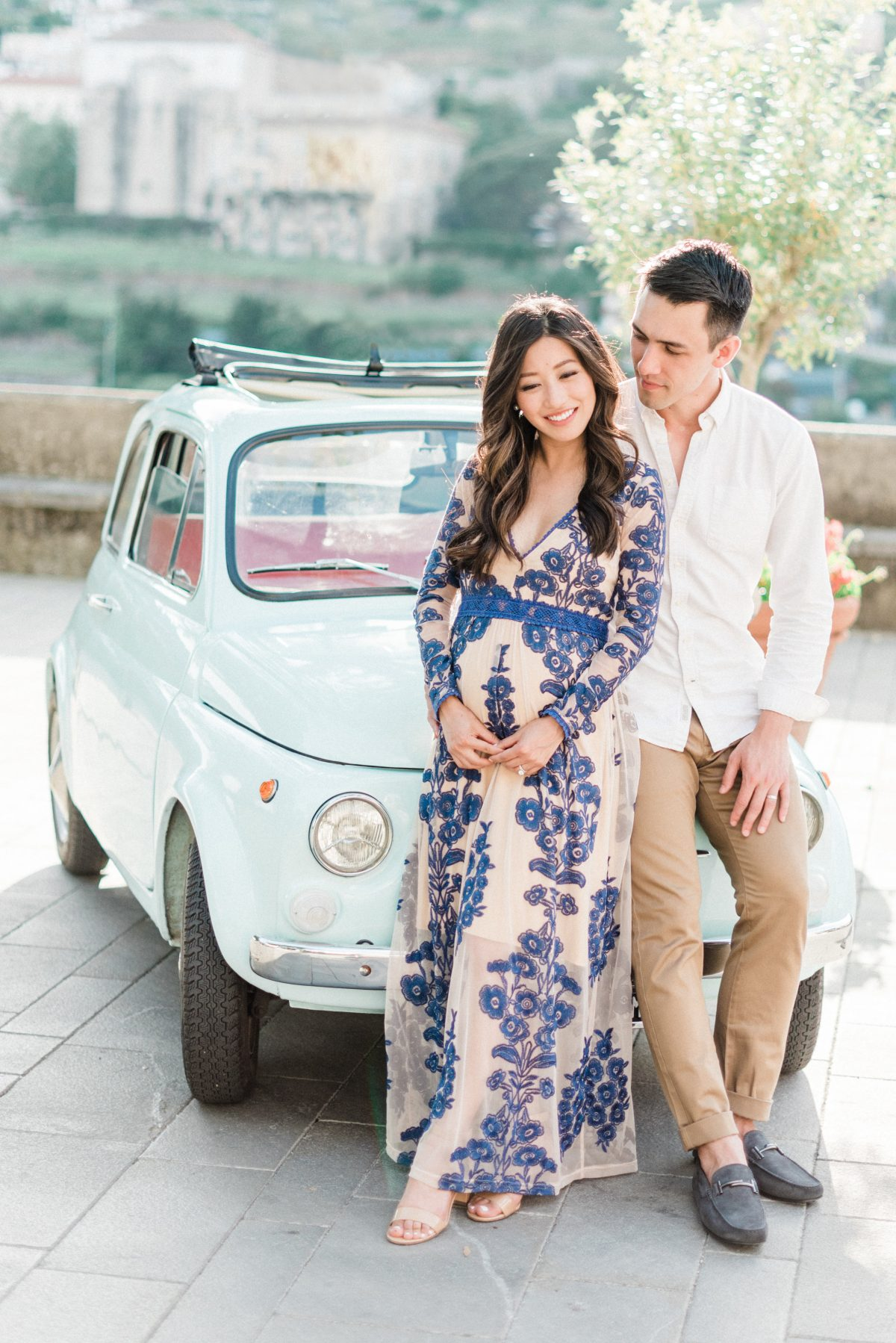 ravello italy babymoon maternity photo session